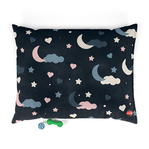 Moon and the Stars Pattern Pet Bed
