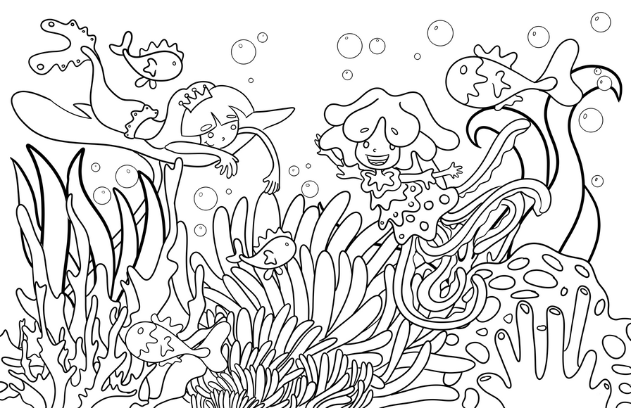 The Coloring Book Adventures of Nina and Catalina Mermaid Adventure