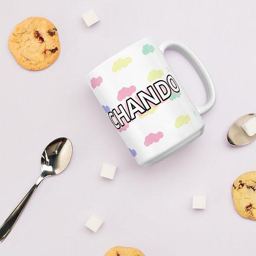 Trasnochando White glossy mug