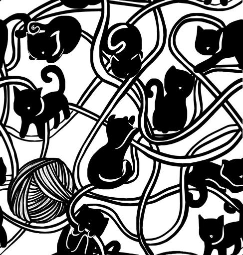 Cat Pattern Black Cat