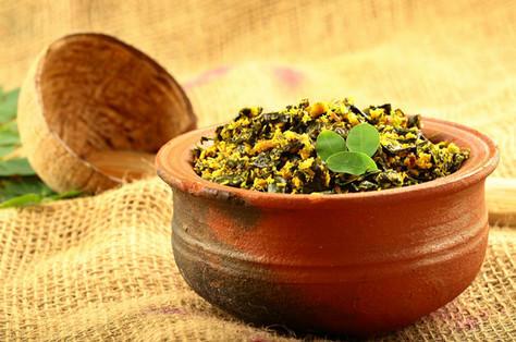 Dish prepared with Moringa Oleifera