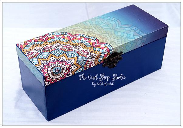 Mandala Blue Bangle Box