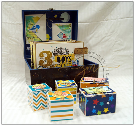 Twin Prince 3D Pop-Up - First Year Baby Album