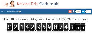 UK Debt Clock Banking conspiracy