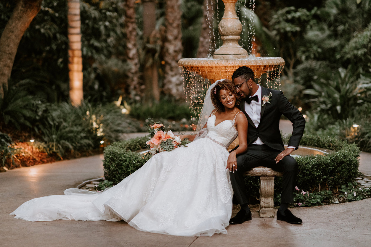 Grand Tradition Estate & Gardens wedding african american black love bride groom