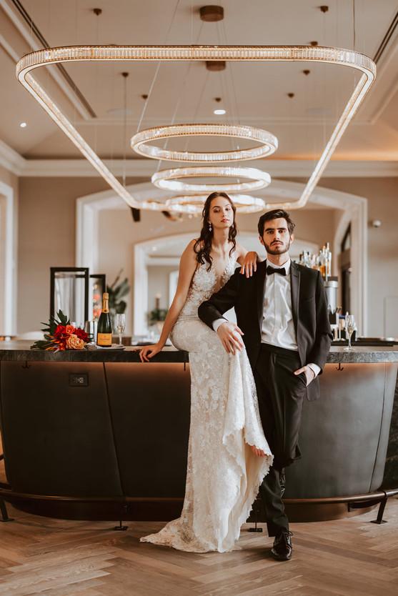 Four Seasons Carlsbad black tie formal wedding bride groom