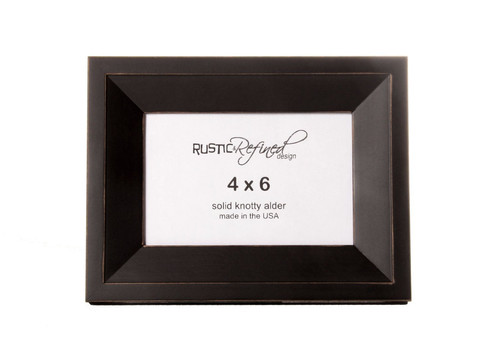 4x6 Haven Picture Frame - Black