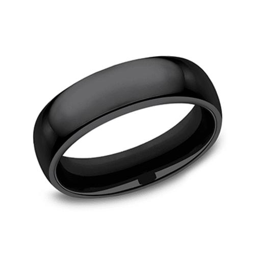 Black Titanium Plain Wedding Band