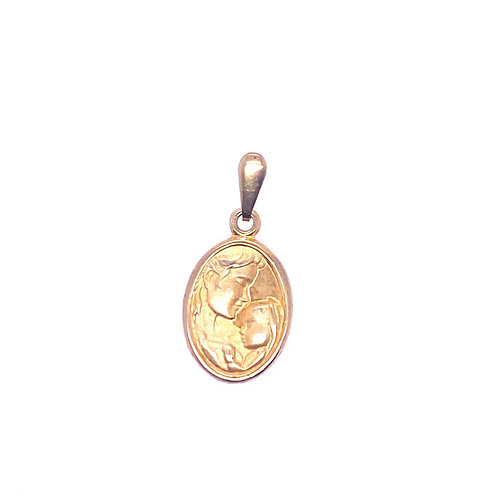 Estate 10kt Yellow Gold Mother Child Charm