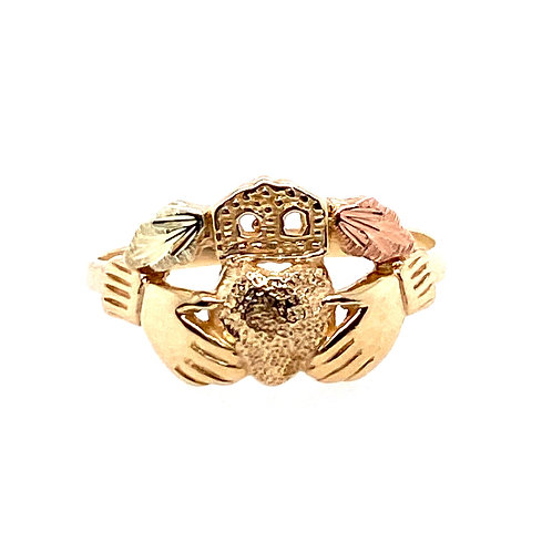 Estate 10kt Two Toned Gold Claddagh Ring