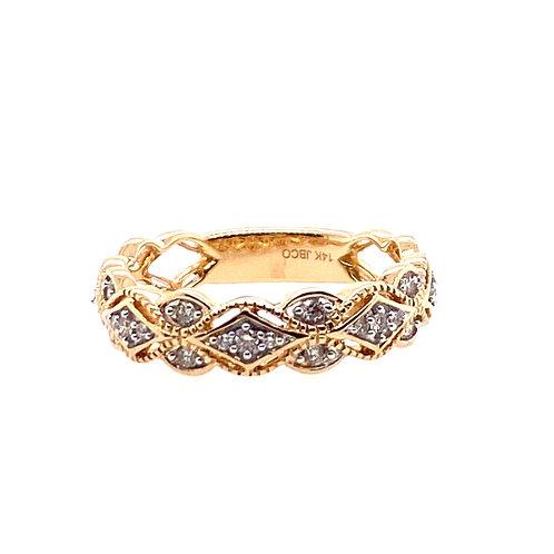 14kt Yellow Gold Diamond Fancy Ring