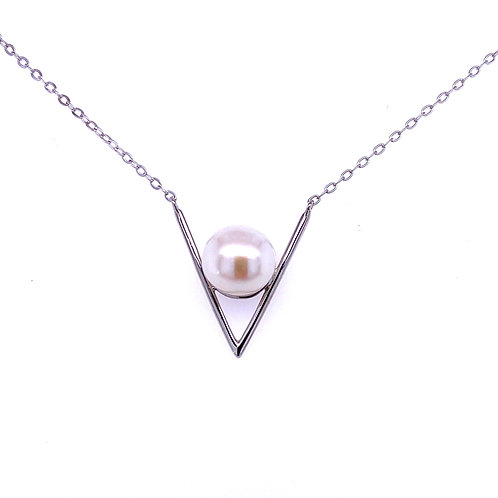 Sterling Silver Freshwater Cultured Pearl Pendant