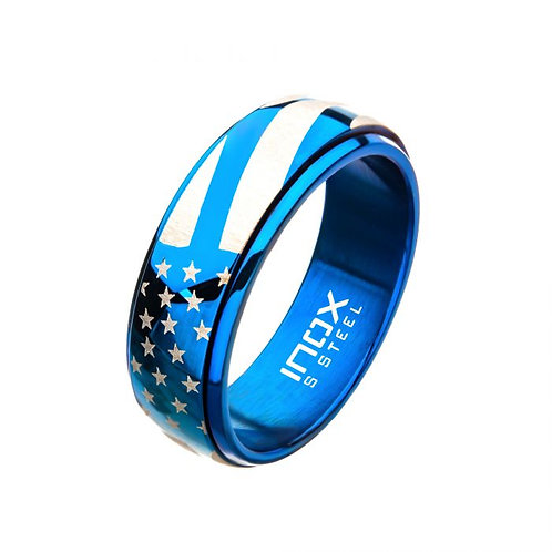 Stainless Steel Blue American Pride Band