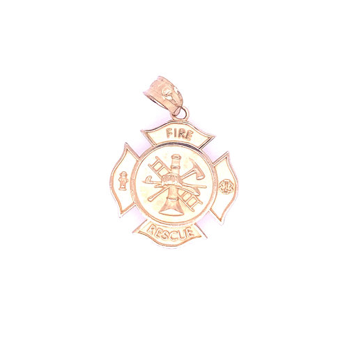 Estate 10kt Yellow Gold Fire Rescue Charm