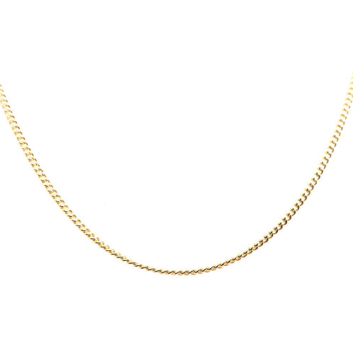 Estate 14kt Yellow Gold Curb Link Chain