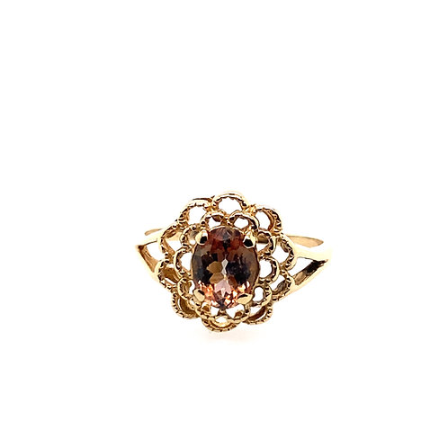 Estate 14kt Yellow Gold Andalusite Lady's Ring