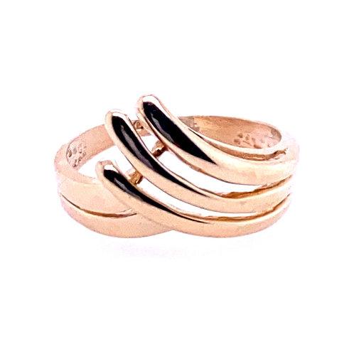 Estate 14kt Yellow Gold V-Shaped Ring
