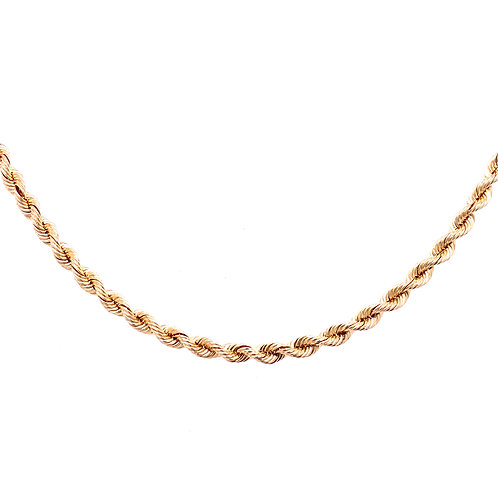 Estate 14kt Yellow Gold Rope Chain