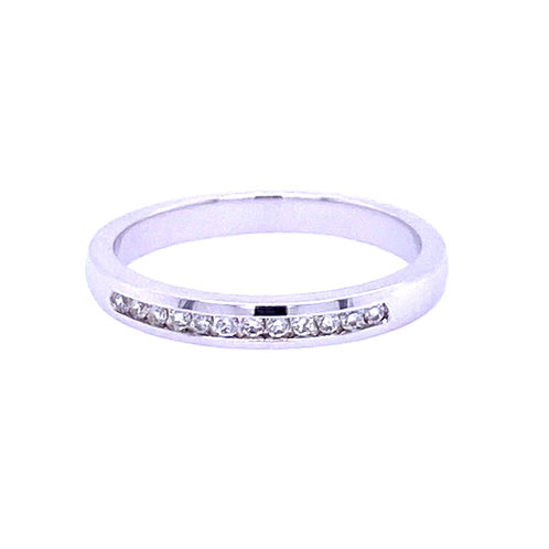 14kt White Gold Channel Set Band