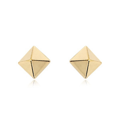 14kt Yellow Gold Pyramid Earrings