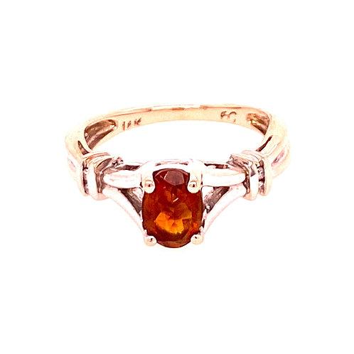 Estate 14kt White Gold Citrine Ring