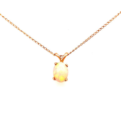 Estate 14kt Yellow Gold Opal Pendant