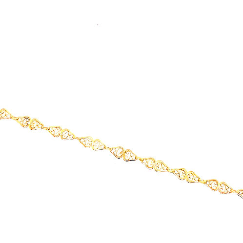 Estate 14kt Yellow Gold Filigree Style Bracelet
