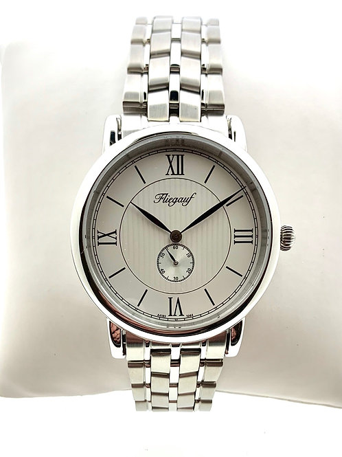 White Belair Bracelet with Subdial Second Hand