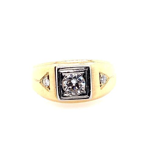 Estate 14kt Yellow Gold Gents Diamond Ring
