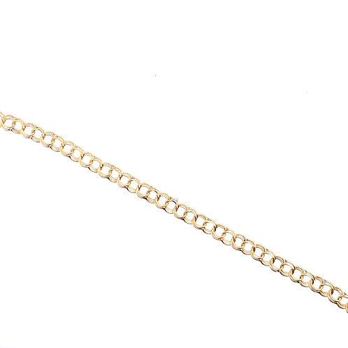 Estate 14kt Yellow Gold Charm Link Bracelet