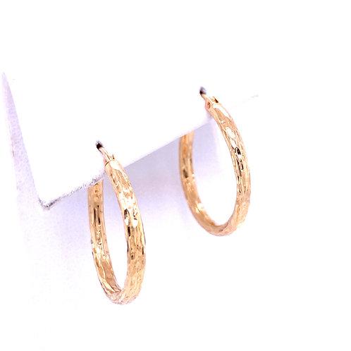 Estate 14kt Yellow Gold Hoop Earrings
