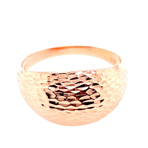 Estate 14kt Rose Gold Diamond Cut Dome Ring
