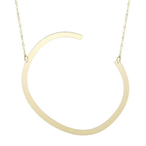 """14kt Yellow Gold Initial """"C"""" Pendant"""