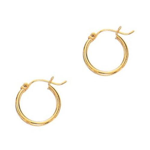 14kt Yellow Classic Gold Hoop Earrings