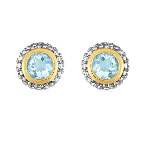 Sterling Silver/18kt Gold Phillip Gavriel Aquamarine Earrings