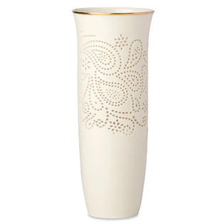 Lenox Pierced Paisley Petite Vase