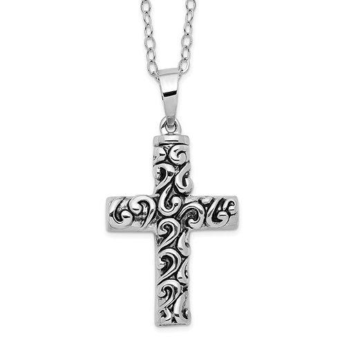 Sterling Silver Cross Ash Holder Pendant