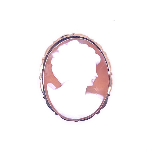 Estate 14kt Yellow Gold Cameo Brooch/Pendant