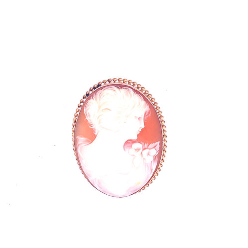Estate 10kt Yellow Gold Cameo Pin