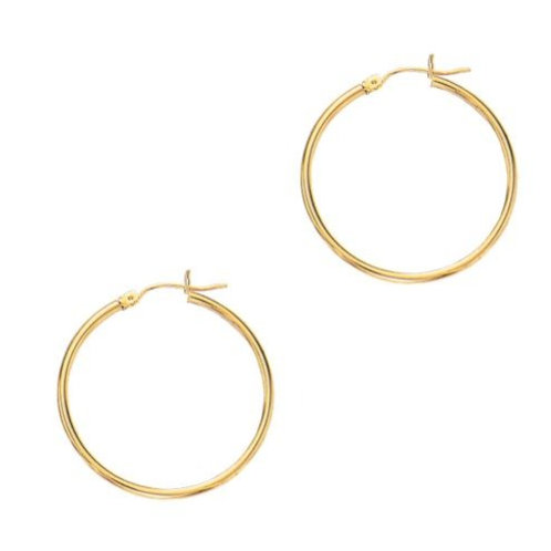 14kt Yellow Classic Gold Hoop Earrings