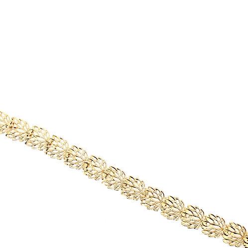 Estate 14kt Yellow Gold Open Filigree Design Bracelet