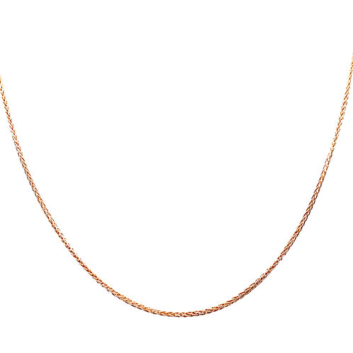 Estate 14kt Yellow Gold Wheat Chain