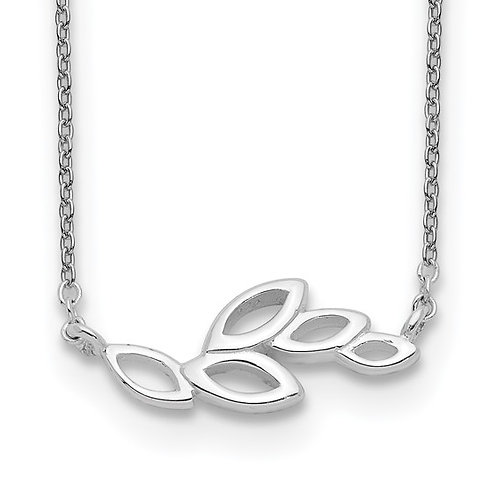Sterling Silver Small Leaves Necklace