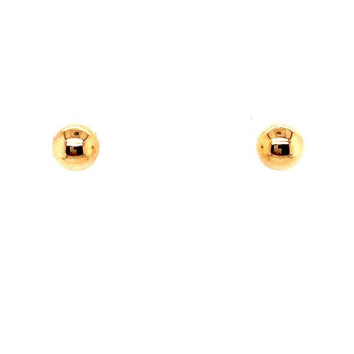 Estate 14kt Yellow Gold Ball Stud Earrings