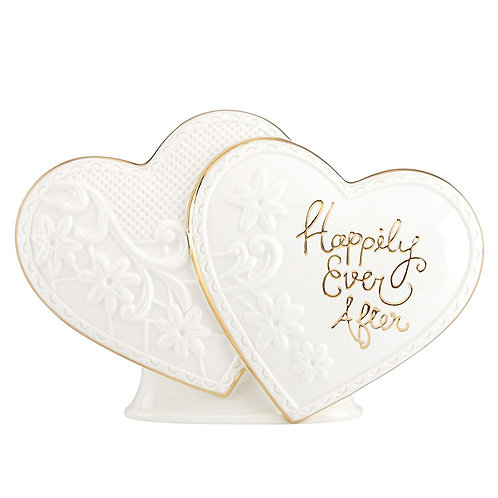 """Lenox """"Happily Ever After"""" Heart Cake Topper"""