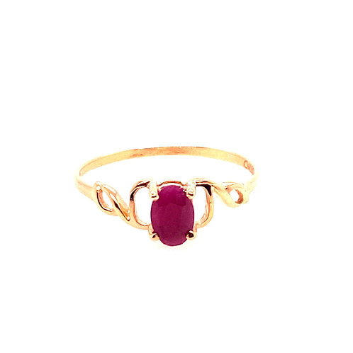 Estate 14kt Yellow Gold Ruby Ring