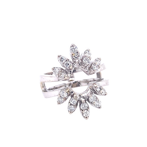 Estate 18kt White Gold Diamond Cluster Ring