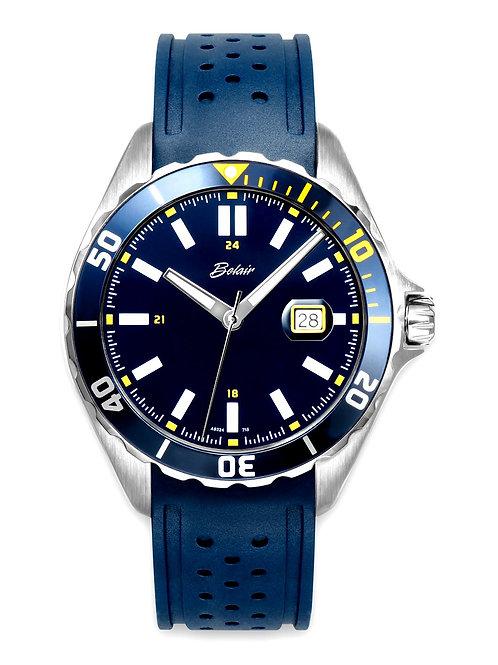 """Belair """"Fliegauf"""" Gents Blue Dial Strap Watch"""