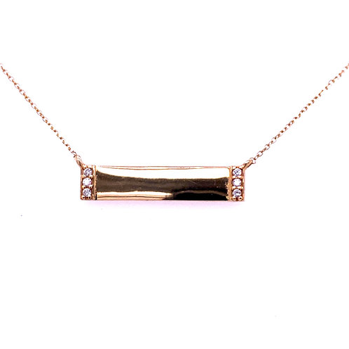14kt Yellow Gold Diamond Bar Pendant