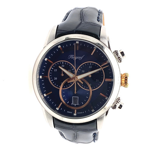 Two Toned Fliegauf Gents Leather Watch
